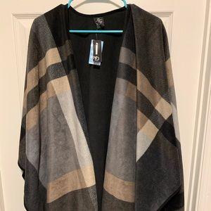 Jackets & Blazers - Warm winter reversible shawl